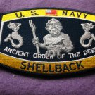 U.S. NAVY SHELLBACK ANCIENT ORDER OF THE DEEP KING NEPTUNE PATCH