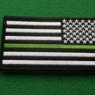 THIN GREEN LINE BORDER PATROL AMERICAN FLAG REVERESED PATCH
