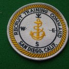 Recruit Training Command San Diego, California Patch