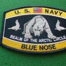 Navy Blue Nose Polar Bear Patch