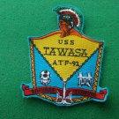 USS Tawasa ATF-92 Ship Patch