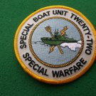 SPECIAL BOAT UNIT 22 SPECIAL WARFARE PATCH