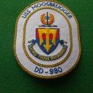 USS Moosbrugger DD-980 Ship Patch