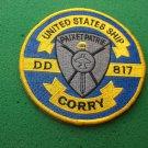 USS Corry DD-817 Ship Patch