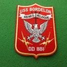 USS Bordelon DD-881 Ship Patch