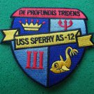 USS SPERRY AS-12 SHIP PATCH