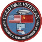 COLD WAR VETERAN 1946-1991 PATCH