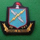 USS SAMUEL N MOORE DD-747 SHIP PATCH