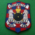 USS MSO-488 CHECKMATES SHIP PATCH