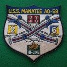 USS MANATEE AO-58 SHIP PATCH