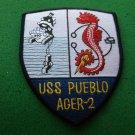 USS PUEBLO AGER-2 ENVIRN.RESEARCH SHIP PATCH