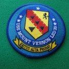 USS MOUNT VERNON LSD-39 SHIP PATCH