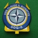 USS CLAUDE V RICKETTS DDG-5 SHIP PATCH