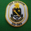 USS PETERSON DD-969 SHIP PATCH