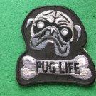 Pug Life  Biker Patch