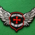 Jesus Christ Lord and Savior Wings Christian Biker Patch