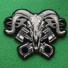 Ram with Pistons Biker Patch