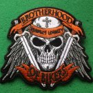 Brotherhood of Bikers Respect and Loyalty Skull Biker Patch