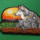 Wolf and Cubs Biker Patch
