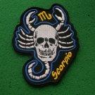 Scorpio Skull Zodiac Sign Biker Patch