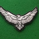 Black and White Eagle Biker Patch