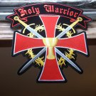 Holy Warrior Cross and Holy Grail Biker Patch -