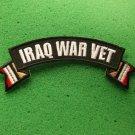 Iraqi War Vet Flag Rocker Biker Patch
