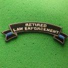 Retired Law Enforcement Rocker Biker Patch