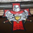 Holy Grail Knight Templar Biker Patch