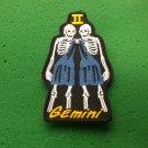 Gemini Skull Zodiac Sign Biker Patch