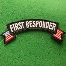 First Responder Flag Rocker Biker Patch