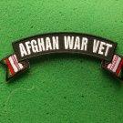 Afghan War Vet Flag Rocker Biker Patch
