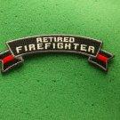 Retired Firefighter Rocker Biker Patch