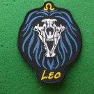 Leo Skull Zodiac Sign Biker Patch