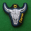 Taurus Skull Zodiac Sign Biker Patch
