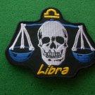 Libra Skull Zodiac Sign Biker Patch