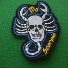 Scoripio Skull Zodiac Sign Biker Patch