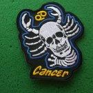 Cancer Skull Zodiac Sign Biker Patch
