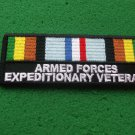 ARMED FPRCES EXPEDITIONARY VETERAN RIBBON PATCH