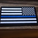 THIN BLUE LINE AMERICAN FLAG REVERSED PATCH