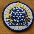 USS NASHVILLE LPD-13 SHIP PATCH