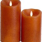 "Luminara® Flameless Candle - 3.5"" Dia. Yam Country Pillar - Unscented 5"" or 7"""
