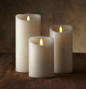 "Luminara® Flameless Candle - 3"" Dia. Classic Pillar - White Unscented"