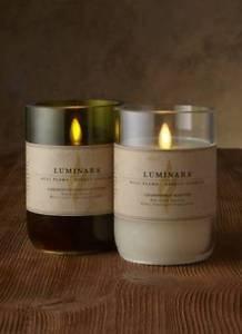 """5"""" Luminara® Flameless Candle - 3.5"""" Dia. Wine Bottle - Cabernet or Chardonnay"""