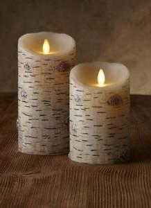 """Luminara® Flameless Candle - 3.5"""" Dia. Classic Pillar - Birch Bark Unscented"""