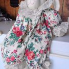 Bunny Rabbit with Dress Hare Soft Plush Toy White Handmade Great Condition Doll
