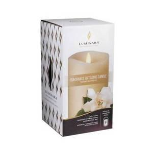 Luminara® Flameless Fragrance Diffusing Pillar Candle - Ivory - 3.5 x 7 inches