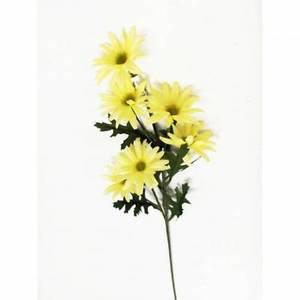 "Wholesale Lot of 12: 22"" Daisy 6 Heads Bush Yellow Flower Bouquet Wedding Decor"
