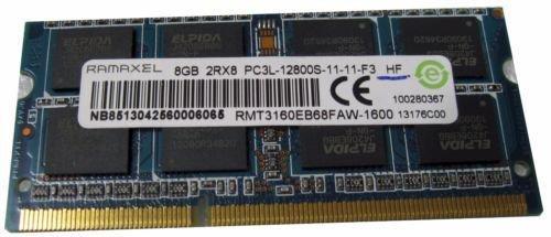 Ramaxel 8GB 2RX8 PC3L-12800S (RMT3160EB68FAW-1600) DDR3 Laptop RAM