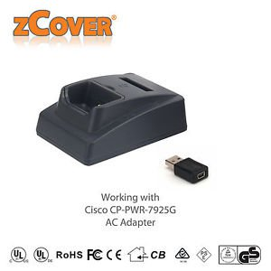 *NEW* zCover Cisco Unified Wireless IP 7926G/7925G/725G-EX Desktop Dual Charger